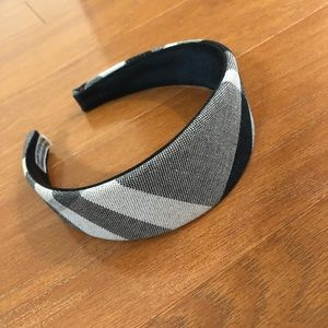 Burberry Headband black and white plaid